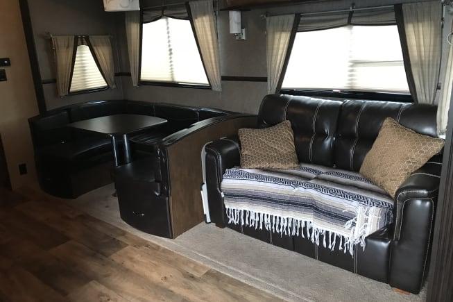 Living area- sofa sleeper for 2, dining table can sleep 2