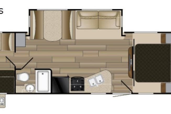Spacious bunk house floorplan with tons of comfortable seating and sleeping spaces!
