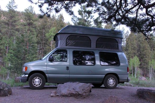 Ford E150 Pop top Colorado Campervan
