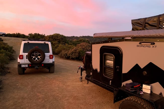 Just living one sunset at a time from the comfort of your own personal basecamp.
