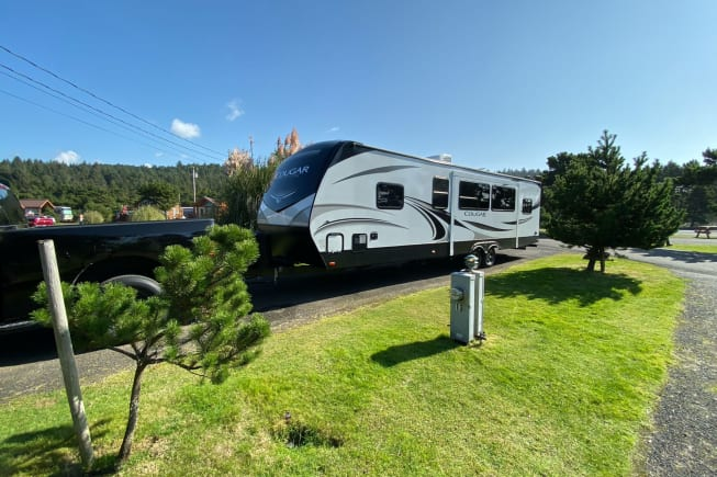 Luxury RV delivered to your location of choice.