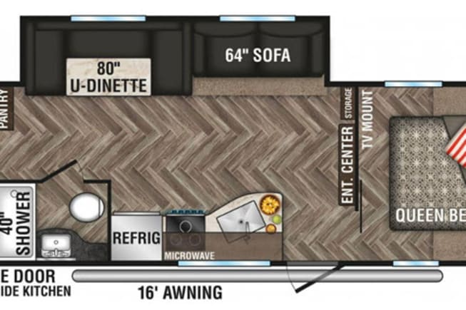 Layout of RV from dealer website.
