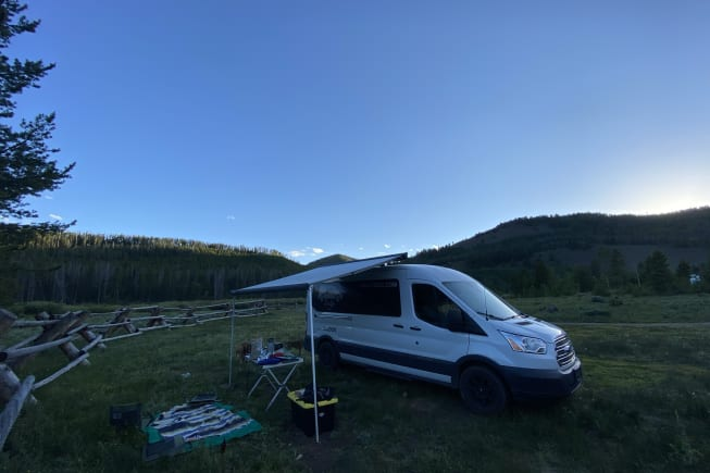 Vandium is a lot of fun. This was from a recent trip to Colorado with the awning out, and the kitchen set up to cook. Are you ready to choose your own adventure?