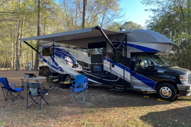 Be the talk of the campground in this colorful RV.  Renters have talked about how people are constantly asking about it at the campground.