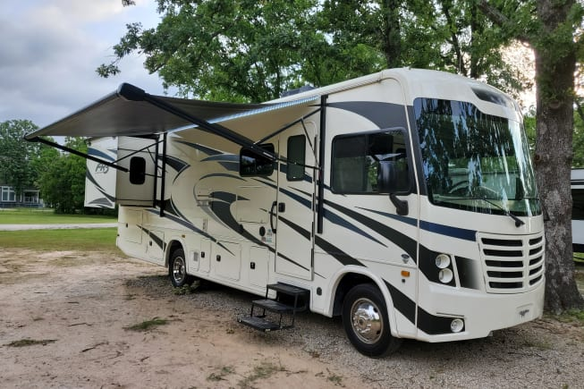 """""""Missy"""" with slide out and Awning extended"""