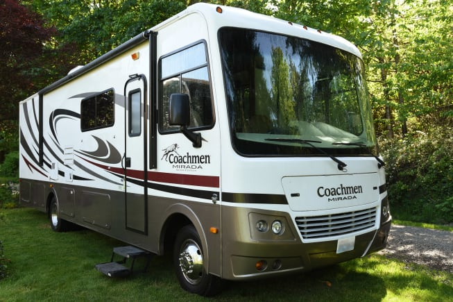 This excellent condition Class A motorhome is 32 feet long with two sliders. Low mileage, very clean.
