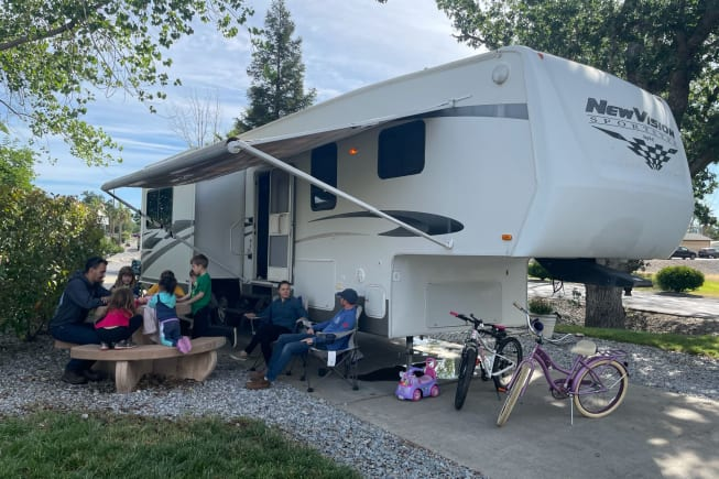 camping outside of Redding on the Sacramento River
