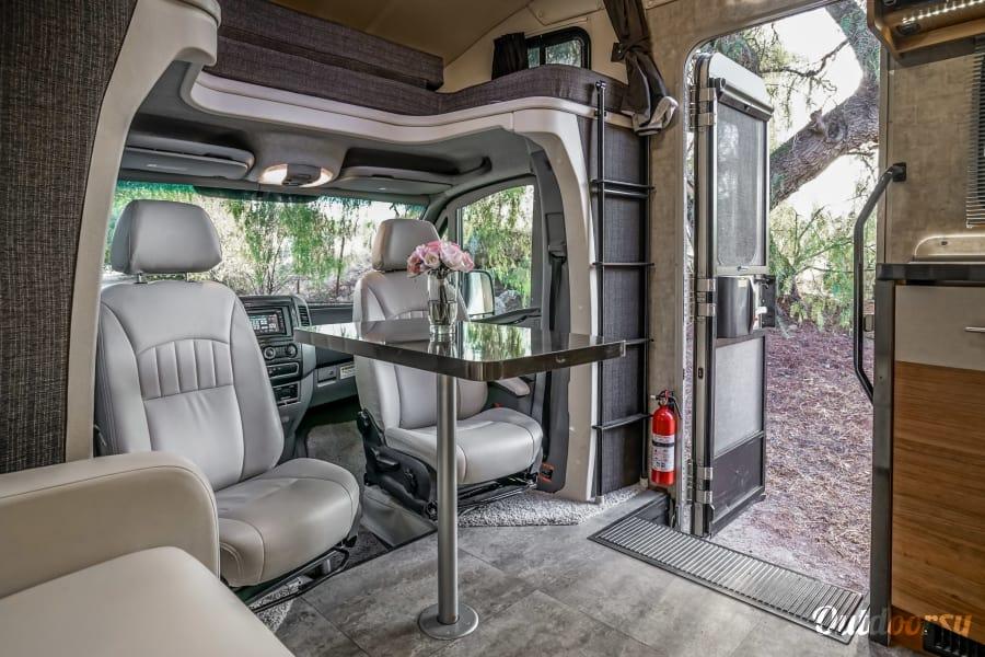 interior Mercedes Winnebago Model V (red - indigo) Riverside, CA