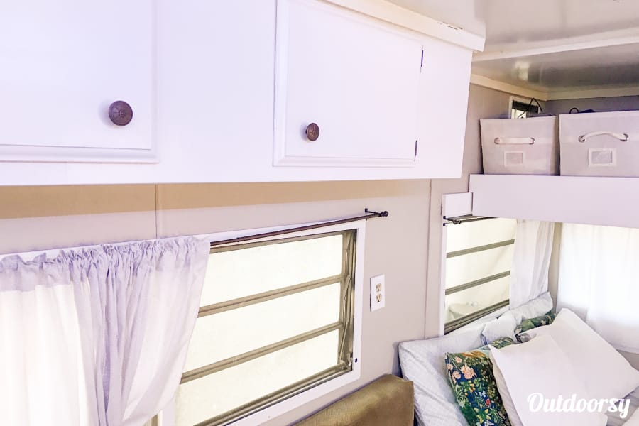 1972 Renovated Terry Travel Trailer: 19' of Awesome Lehi, UT Here's the cupboard areas near the ceiling.