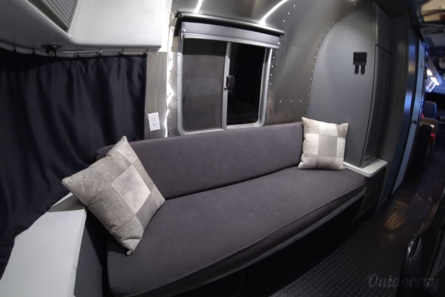 Airstream 345 Motorhome Bayside, Wisconsin Bed converts to a comfy couch