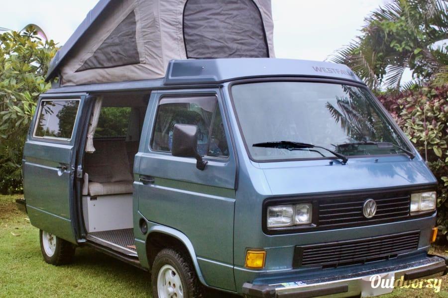 volkswagen westfalia motor home camper van rental  kauai  outdoorsy