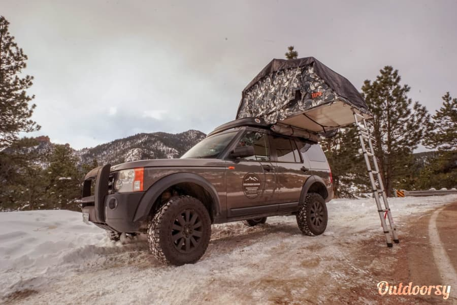 exterior Colorado Safari LR3 with Tepui Roof Top Tent Englewood, CO