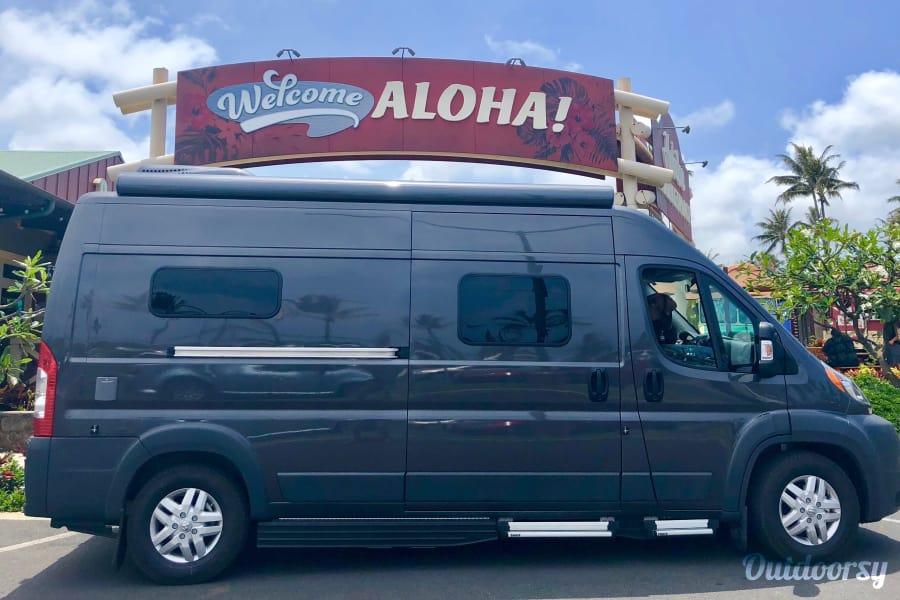 """exterior """"Ho'okipa"""" - Hymer Aktiv on Maui Kahului, HI"""
