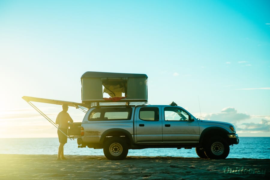 "exterior Toyota Tacoma ""Silver Surfer"" Lihue, HI"