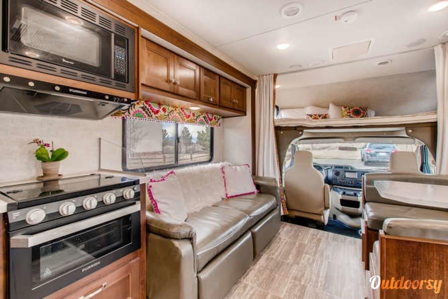"interior ""VAN-essa"" 2019 Forest River Sunseeker Longmont, CO"