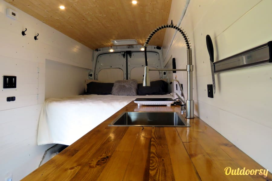 interior Custom Camper Van (King Bed & Solar Power) Wilmington, NC