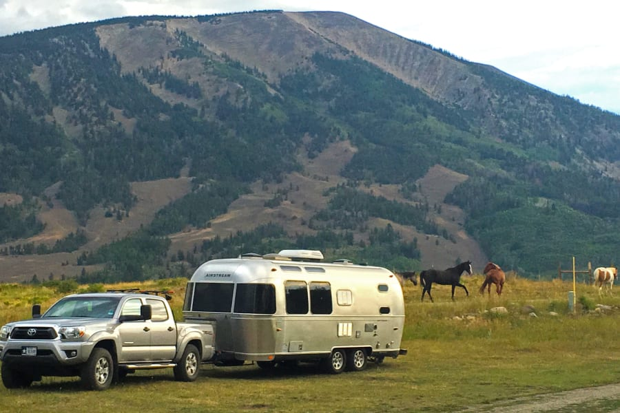 Along side a horse ranch in Wyoming. Our awesome clients pulled over to take this beautiful scene to share with us.