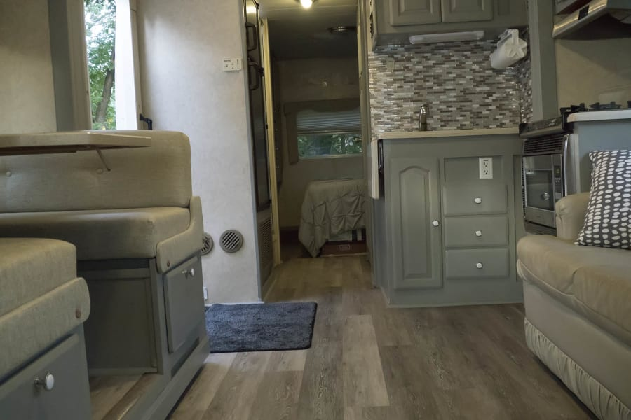 Updated interior.  Can't find this on a new RV!