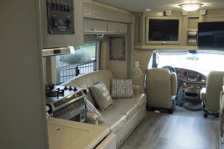 Plenty of room with double slides in the front of the RV and one in the rear.