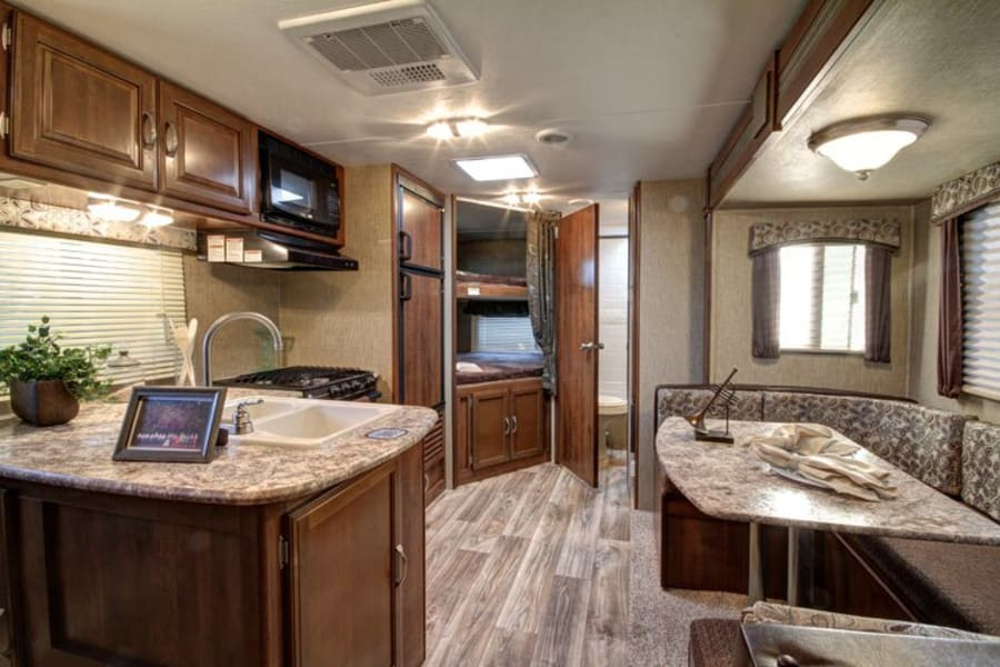 Kitchen, Dinette, Bunk Area and Bath