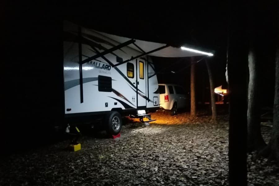 Setup at night