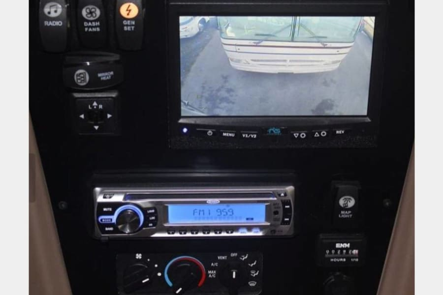 Back up camera and stereo system with sub wolfer.