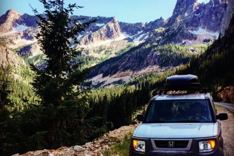 The Stealth Camper can get you high up into the mountains (North Cascades, WA)