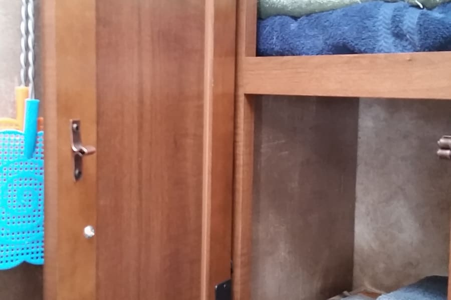 Plenty of bathroom storage