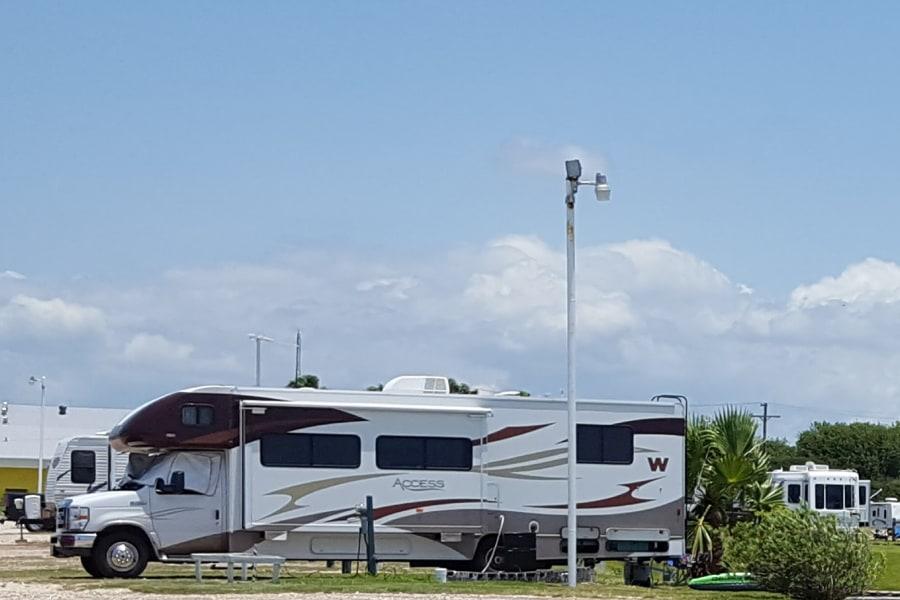 Camping at the bay