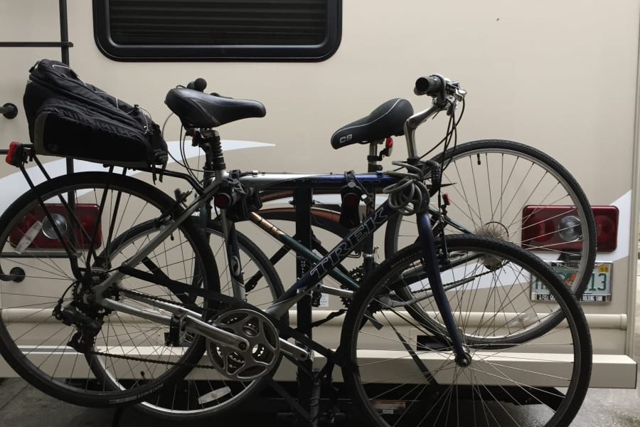 Bicycle rack available.