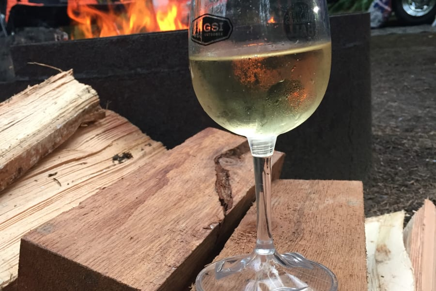 We set you up with a bottle of wine and your starter firewood.