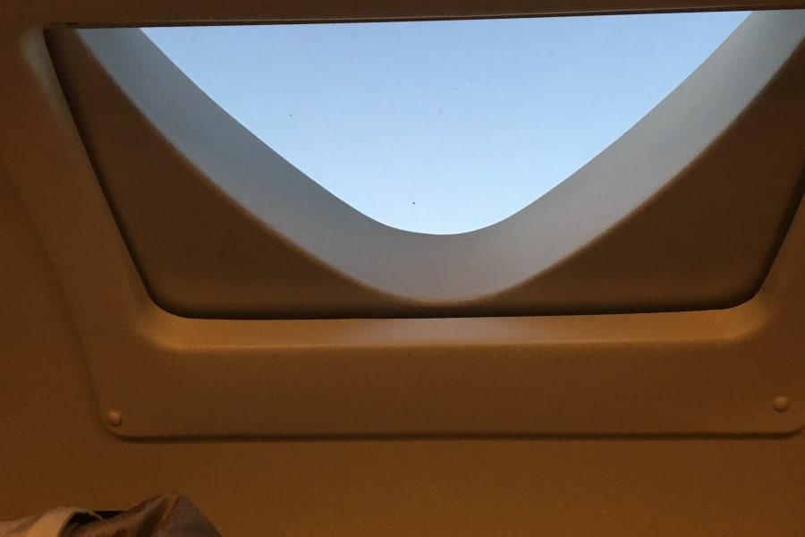Skylight in the overhead bunk
