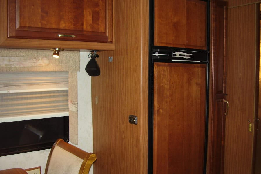 Refrigerator & pull out pantry storage