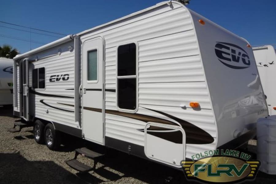 Exterior of trailer...note two doors for convenience!
