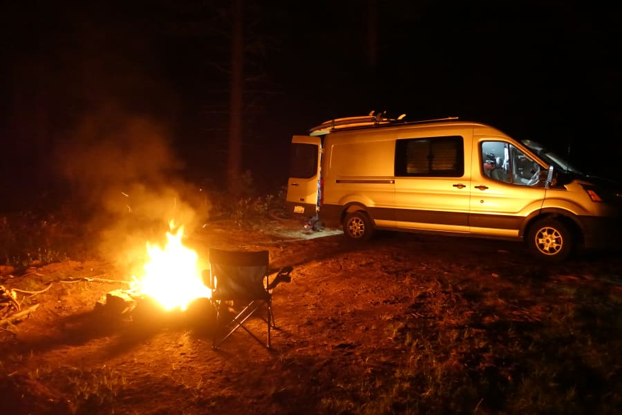 Just outside Bend, Oregon. My co-pilot was in the van making an amazing red curry while I kindled fire.
