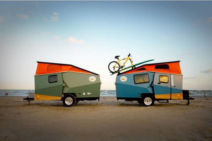 Taxa Cricket Trailer - backpacking style camper. *This is not my actual camper pictured