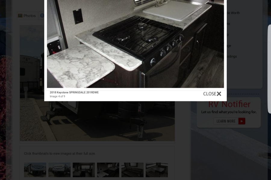 Gas range with oven and microwave plus larger fridge