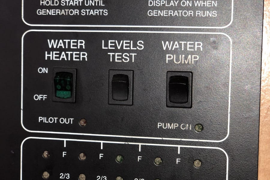 Easy to read control panel.