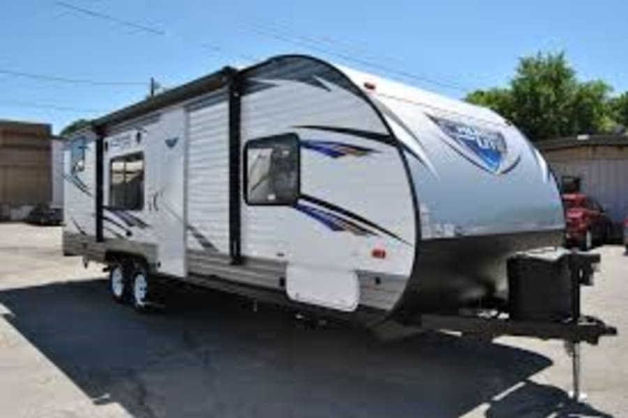 Exterior of the camper
