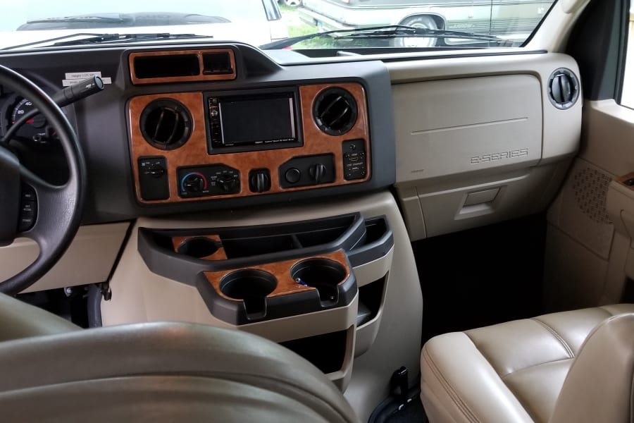 Front dash with backup camera.