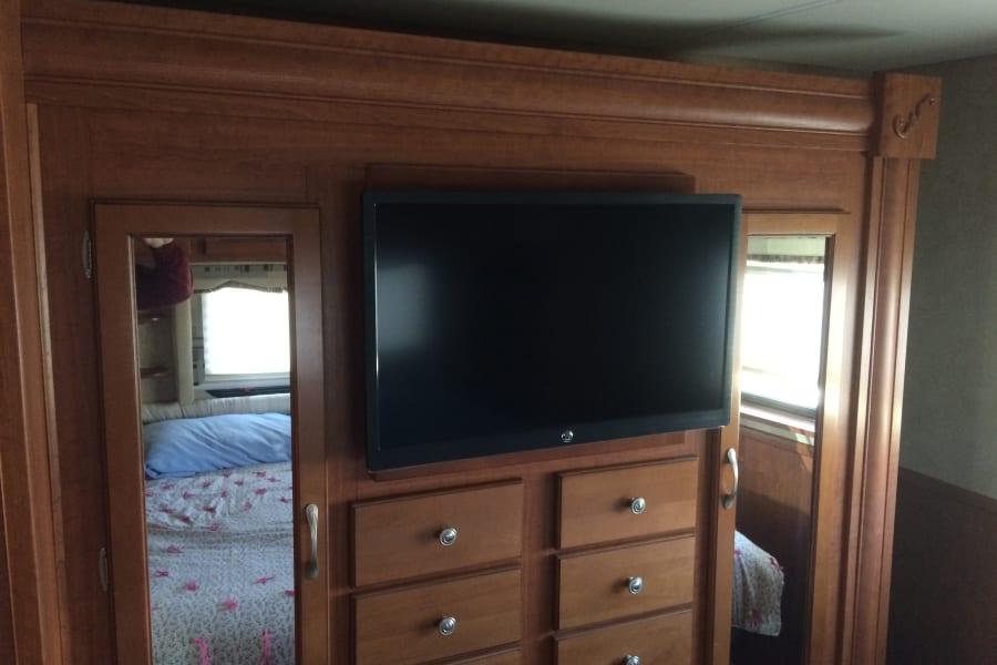 Flatscreen tv in bedroom