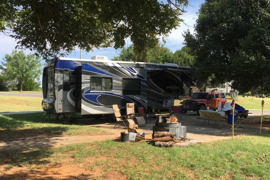 Camping at Fort Cobb