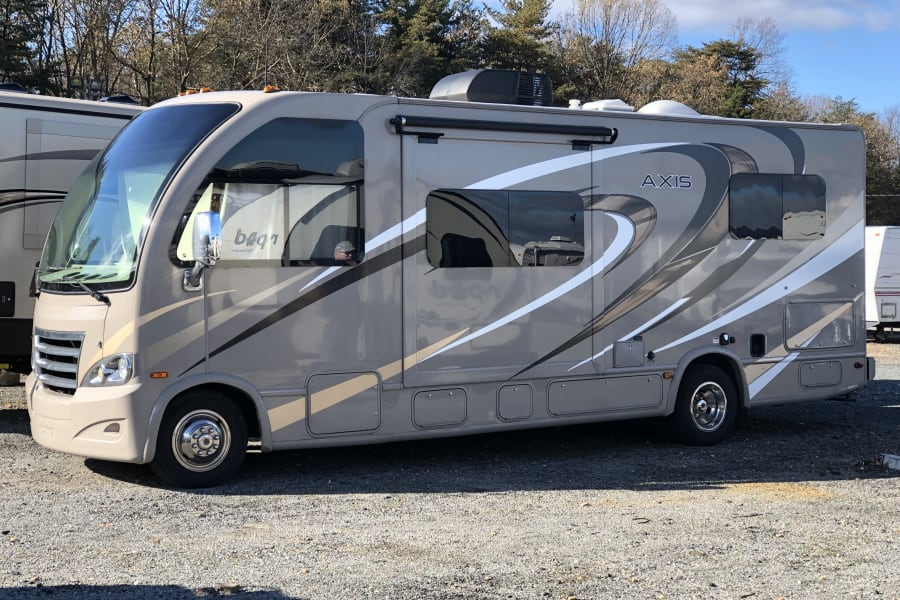 This RV rides like a class B has a chassis of class C and has the comfort and luxury of the class A!