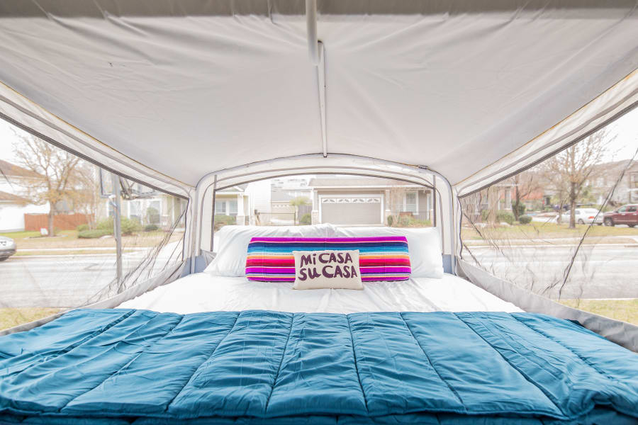 King size beds on both ends of the camper with 2 sleeper sofas as well!