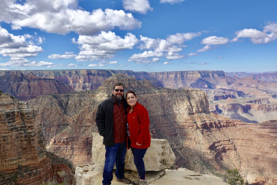 Lisa and I at the Grand Canyon this year, this was out first trip in our RV.