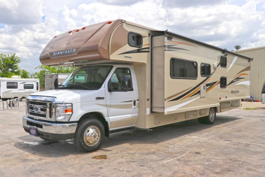This RV has a slide out which offers more living space!