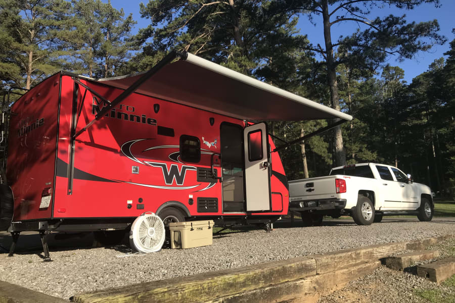 Easy to tow, set-up and take down.  Once it's parked, you'll be done setting up in less than 30 minutes.  All the comforts of home, while staying connected with the Great Outdoors!