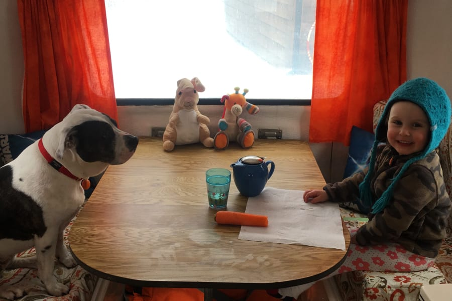Tea time makes the Scamp especially fun for kids