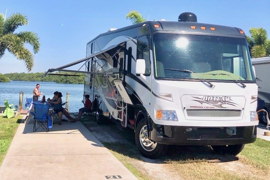 camping at RV park... fun family times !
