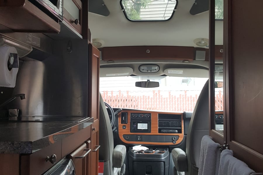 back looking to front interior